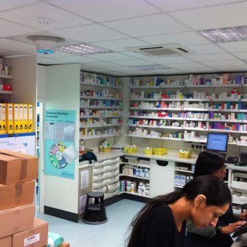 Airius PureAir Air Purification System Installed In a Pharmacy